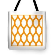 Simplified Latticework With Border In Tangerine Tote Bag