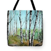 Simply Birches Tote Bag