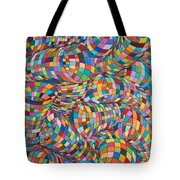 Simply Red - Euclidian Curvatures Tote Bag