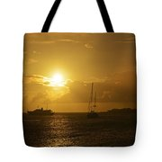 Simpson Bay Sunset Saint Martin Caribbean Tote Bag