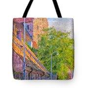 Simrishamn Street Scene Digital Painting Tote Bag