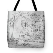 Sinagot At The Pink House Vannes France Tote Bag