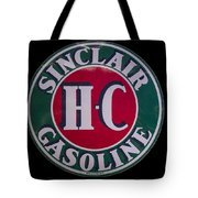 Sinclair Gasoline Porcelain Sign Tote Bag