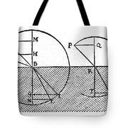 Sine Law Of Refraction, Descartes, 1637 Tote Bag