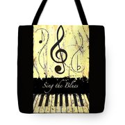 Sing The Blues Yellow Tote Bag