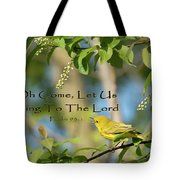 Sing To The Lord Tote Bag