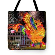 Singapore Chinatown 2017 Lunar New Year Fireworks Tote Bag
