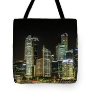 Singapore Evening Cascade Tote Bag