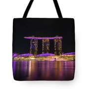 Singapore In Purple 1 Tote Bag