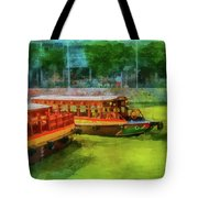 Singapore River Boats Tote Bag
