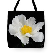 Singel White Peony Magnificence Tote Bag