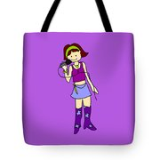 Singer Girl Tote Bag