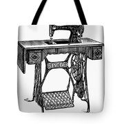 Singer Sewing Machine Tote Bag
