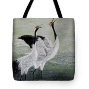 Singing Cranes Tote Bag