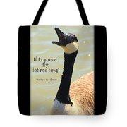 Singing Goose Tote Bag