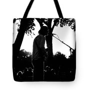 Singing In The Contrast Sunset Light Tote Bag