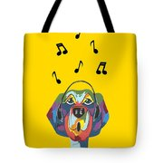 Singing The Blues - Dog Humor Tote Bag