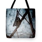 Single Bat Hanging Alone Tote Bag
