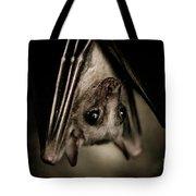 Single Bat Hanging Portrait Tote Bag
