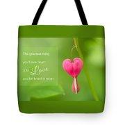 Single Bleeding Heart Flower In My Spring Garden Tote Bag