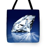 Single Blue Diamond Tote Bag by Setsiri Silapasuwanchai