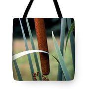Single Cattail Tote Bag