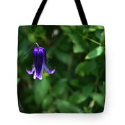 Single Clematis Bell Blossom Tote Bag