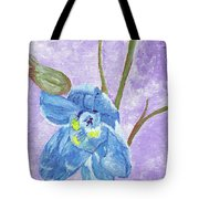 Single Delphinium Flower Tote Bag