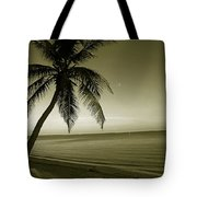Single Palm At The Beach Tote Bag