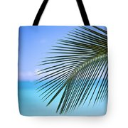 Single Palm Frond Tote Bag