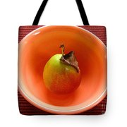 Single Pear In A Bowl Too Tote Bag