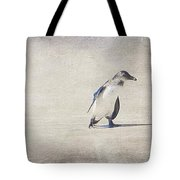 Single Penguin In Deep Thought Tote Bag