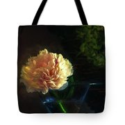 Single Peony Tote Bag
