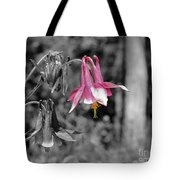 Single Pink Columbine Tote Bag