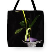 Single Red Rose In Vase Tote Bag