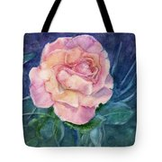 Single Rose On Clayboard Tote Bag