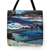 Singular Ice And Snow Tote Bag