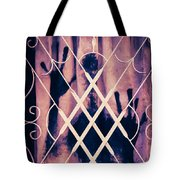 Sinister Figure Painted On A Curtain Tote Bag