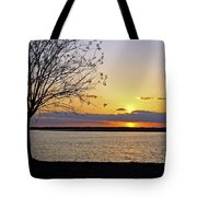Sinking Sun Tote Bag