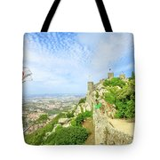 Sintra Castle Aerial Tote Bag