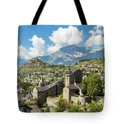 Sion Old Town In Switzerland Tote Bag