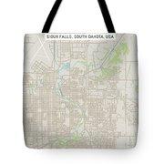 Sioux Falls South Dakota Us City Street Map Tote Bag