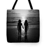 Sisters In Black And White Tote Bag