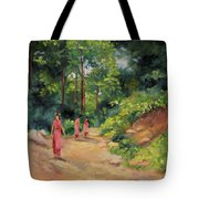 Sisters In Nepal Tote Bag
