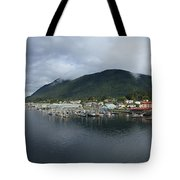 Sitka Alaska From The John O'connell Bridge Is A Cable-stayed Bridge 2015 Tote Bag