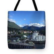 Sitka From The Waterfront Showing The Three Sisters In The Back 2015 Tote Bag