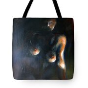 Sitted Female Nude Tote Bag