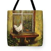 Sittin Chickens Tote Bag