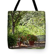 Sitting Along The Path Tote Bag