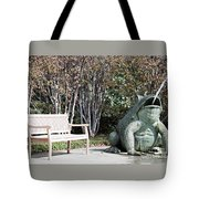 Sitting And Watching The Frog Tote Bag